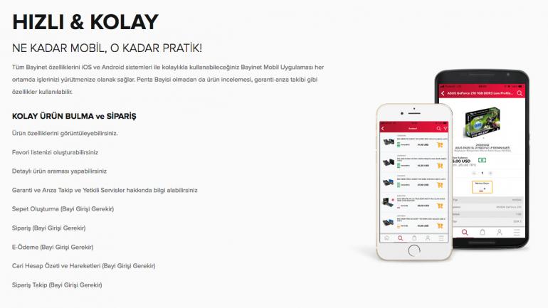 Penta Teknoloji, sektörün ilk B2B e-ticaret sitesi Bayinet'in mobil uygulamasını yeniledi