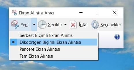 windows 10 ekran görüntüsü alma 1