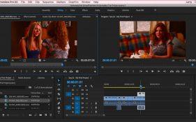 Adobe Premiere Pro düzenlemeler yapıyor