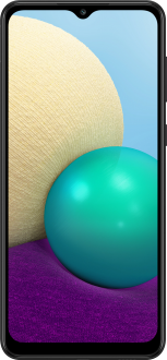 Samsung Galaxy A02 önden görünümü